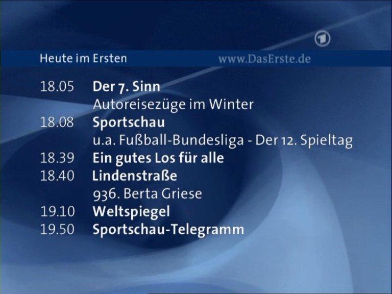 Fernsehprogramm Ard Heute